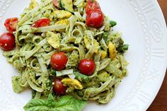 """Ah, lovely pesto! Summer is here and so is the fresh basil. """"But don't you need oil and cheese to make pesto?"""" No way! These ingredients are traditional, but they can be simply omitted, resulting in a sauce that is much lighter and fresher in taste."""