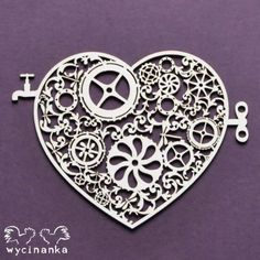 Wycinanka Around The Steampunk Heart 2