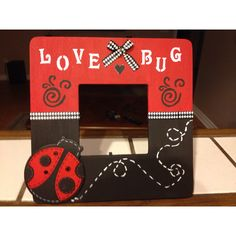 ladybug picture frame by mj