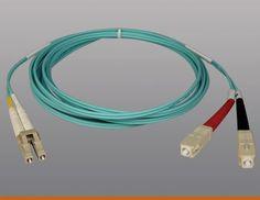 Tripp Lite 10gb Duplex Multimode 50-125 Om3 Lszh Fiber Patch Cable (lc-sc) - Aqua, 10m (33-