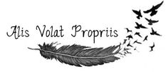 Alis volat propiis. -- Translated from Latin: She flies with her own wings.
