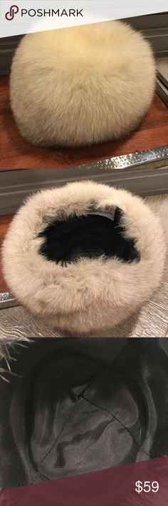 Fur hat Genuine vintage fur hat in excellent condition with no flaws. Very Hollywood glamour. Lloyds & Robarts Accessories Hats