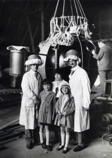 Retronaut - 1931: Auguste Piccard with the capsule of his stratospheric balloon