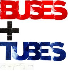 London = Buses + Tubes by Alan Kitching. For the Type Tasting exhibition with the London Design Festival at the Victoria and Albert Museum #creative #typography