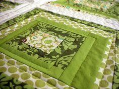 A little bit of some recent green quilt discoveries. Description from diaryofaquilter.com. I searched for this on bing.com/images