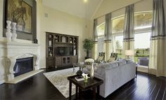 Fireplace and floors. Living Area Cinco Ranch Northwest: Kingston Collection By Our Village Builders Brand