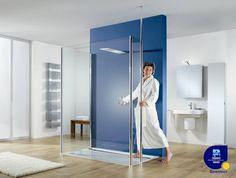 HSK Douchecabine Walk In Easy Comfort wint ZVSHK-Product-Award.   Met de Walk-In oplossing bij alle ruimtesituaties– voor de wand, in een ruimtehoek of in een nis - een comfortabele douche-oase.