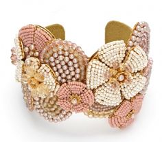 Best Bracelet Perles 2017/ 2018 : lovely cuff by Miriam Haskell...