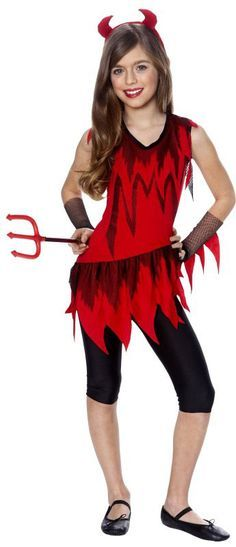 Mya wants to be a Devil for Halloween this year. This looks like an easy idea.
