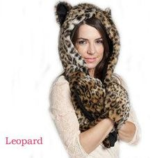 New Fashion Faux Fur Animal Hat With Long Scarf hat Wolf Fur Hat With Paws  Beanies Cap Winter Cartoon Hat High Quality d21f674f2dc9