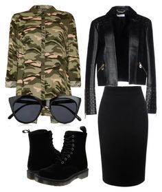 """Untitled #40"" by scooterbump98 on Polyvore featuring Versace, Alexander McQueen, Dr. Martens and Le Specs"