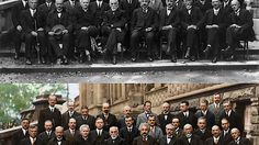 Einstein, Bohr, Curie + more at Solvay Conference 1927. The most amazing gathering of human intelligence in the history of mankind. Marie Curie rocks!