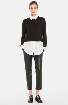sandro 'Seul' Crop Silk Blend Sweater available at #Nordstrom