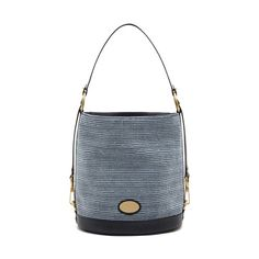 Mulberry - Jamie in Midnight Blue Mixed Denim & Natural Leather