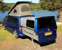 Doubleback camping slideout for VW vans