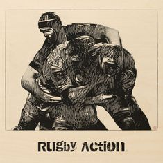 Shop Rugby Action Wood Wall Art created by TheRugbyStore. Rugby Sport, Rugby Men, Rugby Wallpaper, Sports Painting, Wood Company, Team Games, Poster Prints, Posters, Thing 1