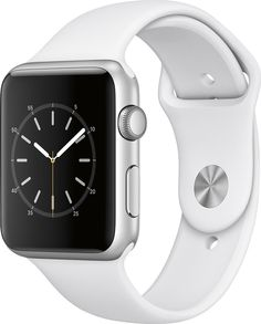 "Apple Watch Series 1 42mm Smartwatch (Silver Aluminum Case, White Sport Band). Aluminum Chassis with Ion-X Glass 1.5"" 312 x 390 Display. Activity and Heart Rate Monitoring Changeable Faces with Widgets. Siri Integration Displays Notifications and Runs Apps. Taptic Alerts Apple Pay. Bluetooth 4.0, 802.11b/g/n Wi-Fi Apple watchOS 3."