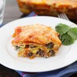 Stacked Roasted Vegetable Enchiladas