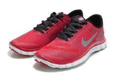 online store c684b ef0b3 Nike Free 4.0 V2 Mens Running Red Black Gray Shoes  Red  Womens  Sneakers