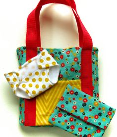 NEW Away We Go! Diaper Bag Set PDF Sewing Pattern for baby doll diaper bag and accessories