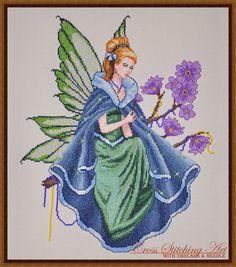 """Twilight Fairy"" cross stitch design by Cross Stitching Art"