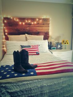 All American Country Chic BedroomFocus on Stripes  Fun Decorating Ideas From HGTV Fans   American  . Marine Corps Themed Room. Home Design Ideas