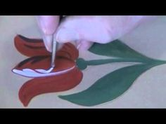 Bauernmalerei country tulip - decorative painting instructional videos - YouTube