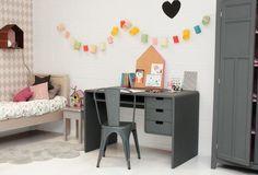 Que buenas ideas ¡y me encantan estos muebles en gris!