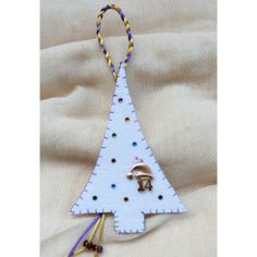 Handmade charm ' CHRISTMAS TRRE with STRASS ' 2014 , for good luck Happy Art, Handmade Felt, Charmed, Drop Earrings, Christmas Ornaments, Holiday Decor, Products, Rhinestones, Noel