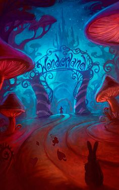 Alice into Wonderland by Jeremy Vickery #illustration #popculture #alicesadventuresinwonderland