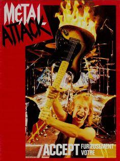 Accept 3 Dirkschneider Poster Metal Rock Band Star Hard Music Black White