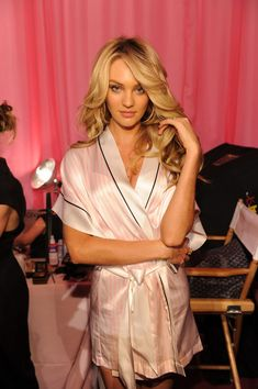 Candice Swanepoel owning it before the Victoria's Secret Fashion show 2013 VSFS
