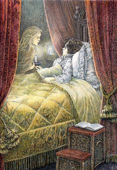 """Are you a ghost? - """"The Secret Garden"""" by Frances Hodgson Burnett, illustrated By Inga Moore."""