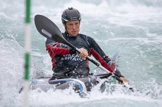 (Jul 08 2020) Fiona Pennie of Great Britain Canoe Slalom team trains at the Lee Valley White Water Centre in London, England. (Photo by Justin Setterfield/Getty Images)