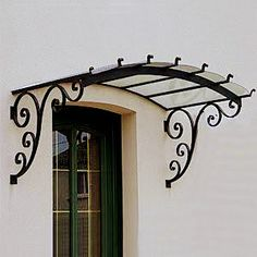 Ideas Metal Patio Doors Wrought Iron For 2019 House Exterior, Pergola Plans Roofs, Railing Design, Wrought Iron Awning, Window Design, Window Grill Design, Door Design, Patio Doors, Iron Decor