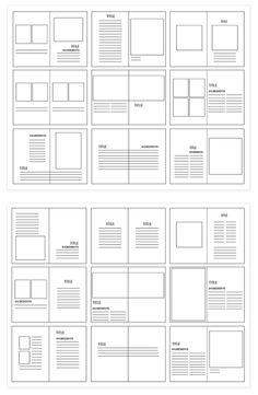 Different models to find layout ideas for your work. - Different models to find layout ideas for your work. Book Portfolio, Design Portfolio Layout, Mise En Page Portfolio, Architecture Portfolio Layout, Page Layout Design, Graphisches Design, Buch Design, Magazine Layout Design, Graphic Design Layouts