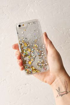 UO Custom Floating Glitter iPhone 6/6s Case - Urban Outfitters