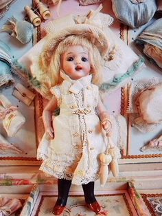An exercise doll from late 1800's to early 1900's.