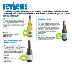TONY LOVE, Daily Telegraph reviews 2012 Printhie MCC Riesling & 2012 Angullong 'Fossil Hill' Shiraz Viognier.