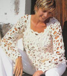 Hot summer crochet from Sandra Magazine.