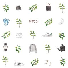 Good objects in a pattern #fashionillustration #goodobjects