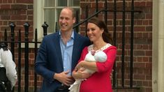 Prince William and Catherine, the Duchess of Cambridge, show off their newborn son.