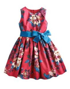 JNR CONSTANCE Girls Sleeveless Printed Dress