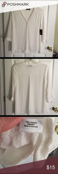 Ana blouse size med New with tags's blouse three-quarter sleeve size medium a.n.a Tops Blouses