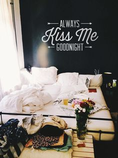Always Kiss Me Goodnight Vinyl Wall Decal