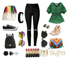 Day time look by sheikha-n-alzaabi on Polyvore featuring polyvore, fashion, style, Rupert Sanderson, Converse, Michael Kors, WithChic, BERRICLE, Christian Dior, L'Oréal Paris, women's clothing, women's fashion, women, female, woman, misses and juniors