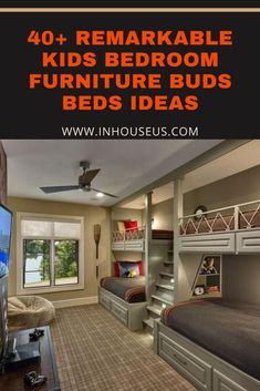 40+ Remarkable Kids Bedroom Furniture Buds Beds Ideas #kidsbedroom #bedroomfurniture