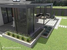 sk e-mail & 883 Neprečítaných správ Backyard Patio Designs, Pergola Designs, Backyard Landscaping, Outdoor Pergola, Outdoor Spaces, Outdoor Living, Outdoor Decor, Modern Pergola, Back Gardens