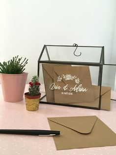 decoration-urne-mariage-diy-serre-verre-kraft-naturel-boheme-champetre-vintage-mydayandco-calligraphie (2)