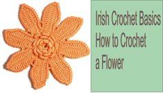 How to crochet flower Irish crochet Freeform Free pattern tutorial by ww...